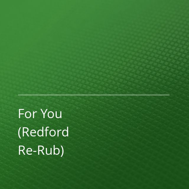 ManyFew/Marcus Santoro/Hayley May - For You (Redford Re-Rub)