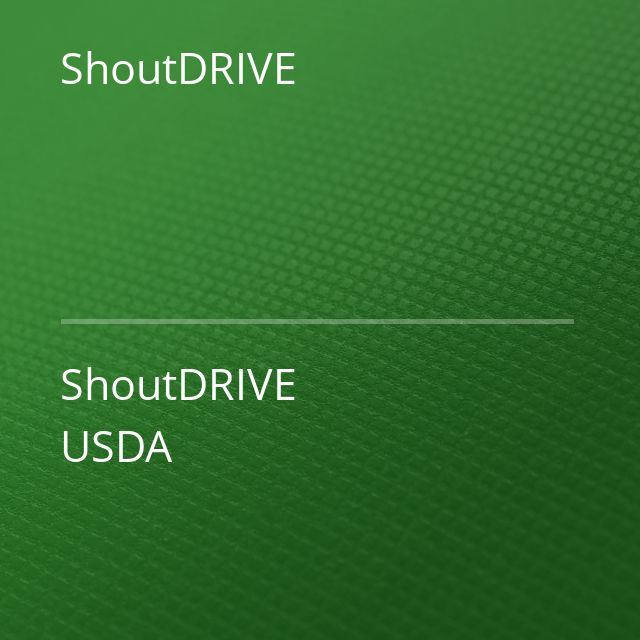 ShoutDRIVE - ShoutDRIVE USDA